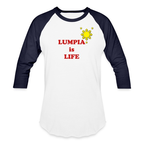 LUMPIA is LIFE - Men's Baseball Shirt - Baseball T-Shirt