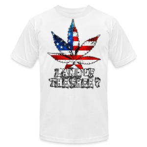 Land of the Free - Men's T-Shirt by American Apparel