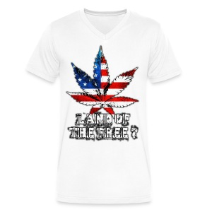 Land of the Free - Men's V-Neck T-Shirt by Canvas