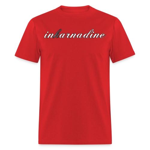 red inkarnascript tee - Men's T-Shirt