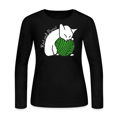 Knit and Purrl Relaxing - Women's Long Sleeve Jersey T-Shirt