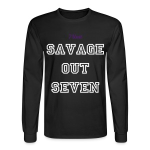 7Unit Savage out Seven Long Sleeve - Black - Men's Long Sleeve T-Shirt