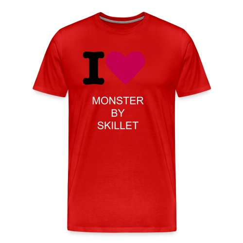 i love monster by skillet - Men's Premium T-Shirt