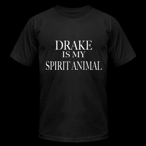 Drake Is My Spirit Animal- Male Black Tee - Men's Fine Jersey T-Shirt