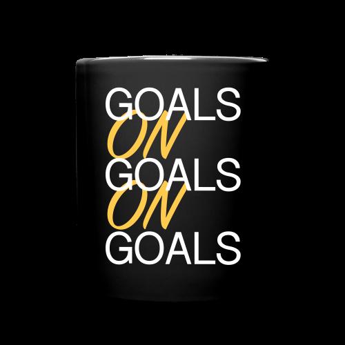 Goals on Goals Mug (Black/White/Sunshine)  - Full Color Mug