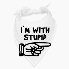 I'M WITH STUPID Caps