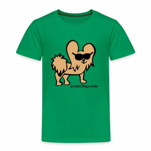 Toddler Jeanie the 3-Legged Dog BROWN - Toddler Premium T-Shirt