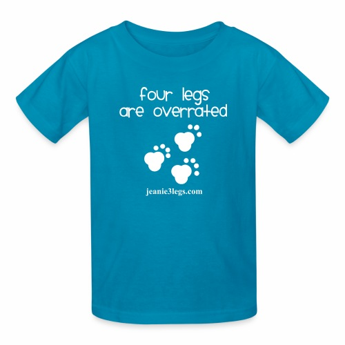 Kids Four Legs Are Overrated Jeanie Paw Prints  - Kids' T-Shirt