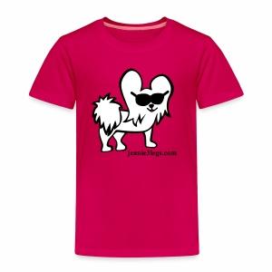 Toddler Jeanie the 3-Legged Dog WHITE - Toddler Premium T-Shirt