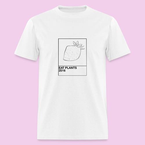 WHITE EAT PLANTS TEE - Men's T-Shirt