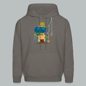 Fly Fisherman Rampant - Men's Hoodie