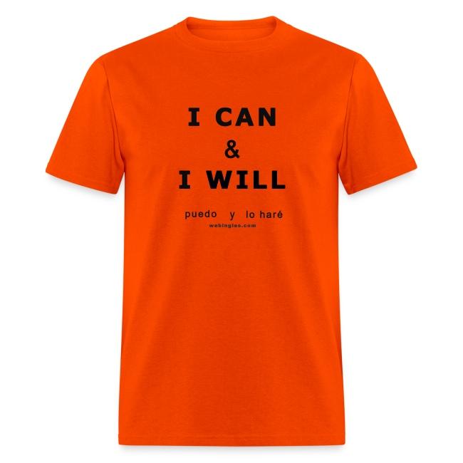I CAN & I WILL Puedo y Lo Haré,( letra negra)