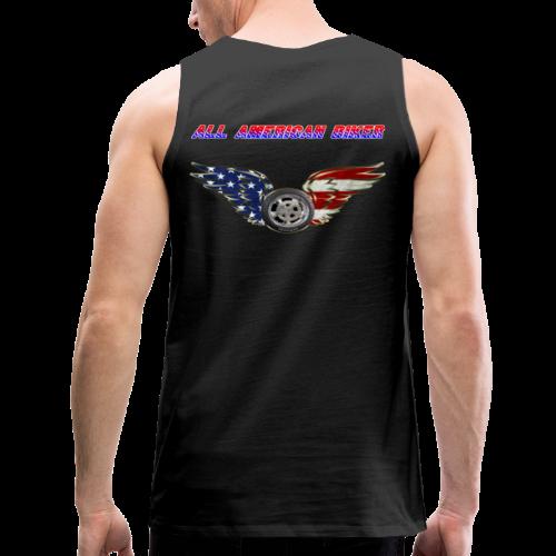 Men's Premium Tanktop (Back)- All American Biker - Men's Premium Tank
