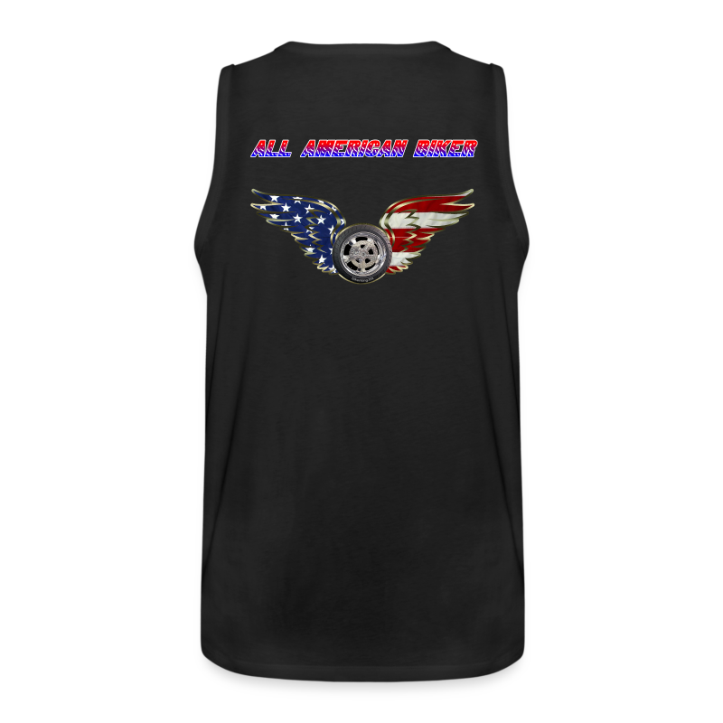 Men's Premium Tanktop (Back)- All American Biker - Men's Premium Tank