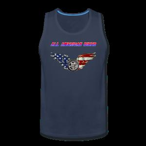 Men's Premium Tanktop (Front)- All American Biker - Men's Premium Tank