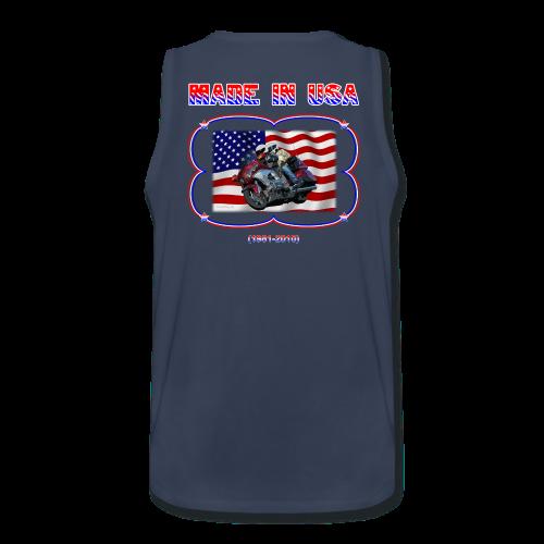Men's Premium Tank (Back) Wg Made in USA - Men's Premium Tank