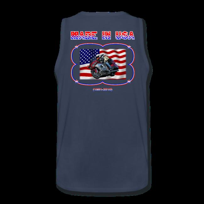 Men's Premium Tank (Back) Wg Made in USA