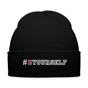 #BYourself Beanie - Knit Cap with Cuff Print