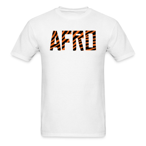 Afro Tiger Print T-Shirt (Men) - Men's T-Shirt