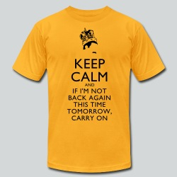 Freddy Mercury Keep Calm - Men's T-Shirt by American Apparel