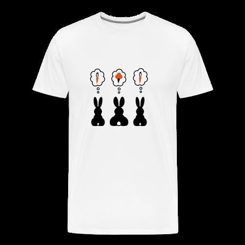 3 Bunnies - Men's T-Shirt - Men's Premium T-Shirt