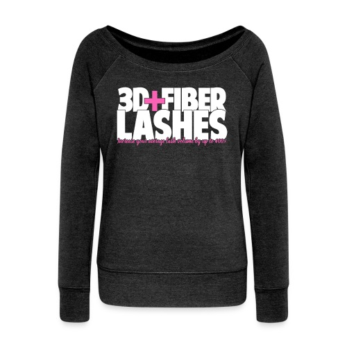 3d + Fiber Lashes - Women's Wideneck Sweatshirt