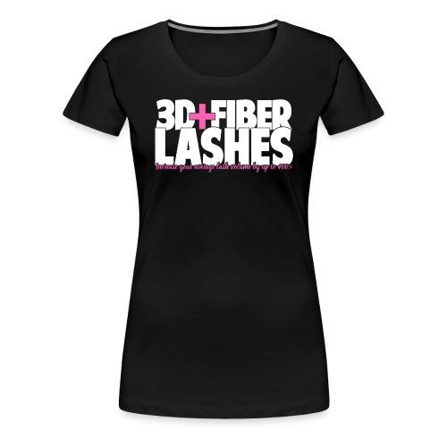 3d + Fiber Lashes - Women's Premium T-Shirt