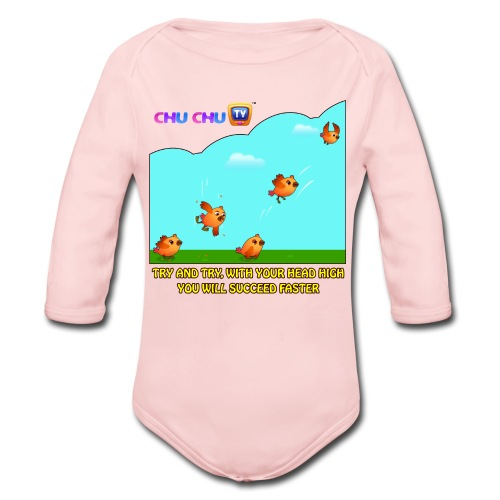 Motivational Quotes 10 - Organic Long Sleeve Baby Bodysuit