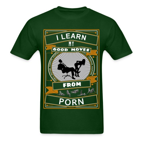 Porn Moves basic dark green T-shirt - Men's T-Shirt
