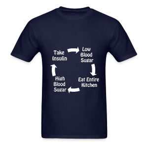 Cycle of Type 1 Diabetes - White - Men's T-Shirt