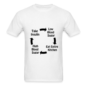 Cycle of Type 1 Diabetes - Black - Men's T-Shirt