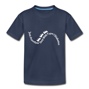 Just Another Day with Type 1 Diabetes! - White - Kids' Premium T-Shirt