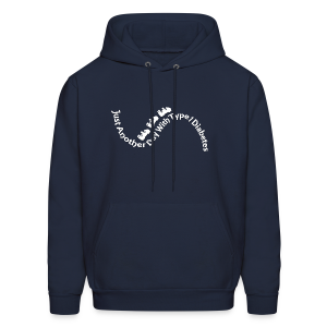 Just Another Day with Type 1 Diabetes! - White - Men's Hoodie