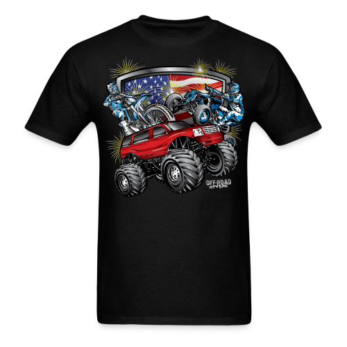 4th of July Monster - Men's T-Shirt