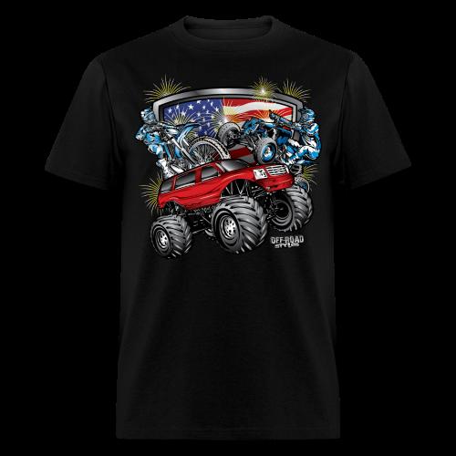 4th of July Monster - Men's T-Shirt