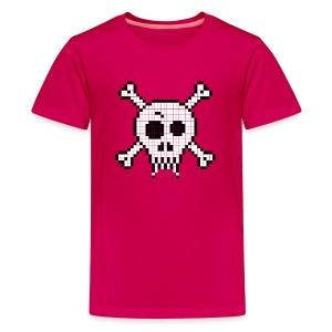 Pixel Skull - Kids' Premium T-Shirt
