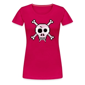 Pixel Skull - Women's Premium T-Shirt