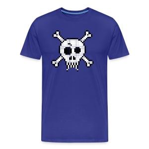 Pixel Skull - Men's Premium T-Shirt
