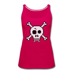 Pixel Skull - Women's Premium Tank Top