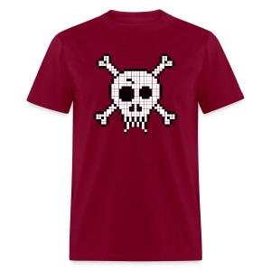 Pixel Skull - Men's T-Shirt