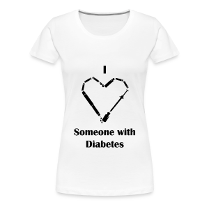 I Love Someone With Diabetes - Needle Design - Black - Women's Premium T-Shirt