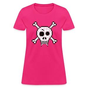 Pixel Skull - Women's T-Shirt