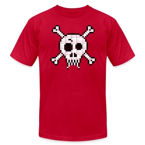 Pixel Skull - Men's Fine Jersey T-Shirt