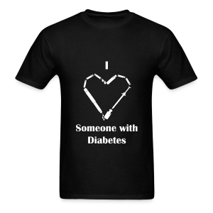 I Love Someone With Diabetes - Needle Design - White - Men's T-Shirt