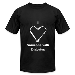 I Love Someone With Diabetes - Needle Design - White - Men's T-Shirt by American Apparel