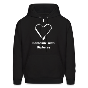 I Love Someone With Diabetes - Needle Design - White - Men's Hoodie