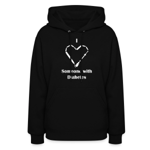 I Love Someone With Diabetes - Needle Design - White - Women's Hoodie