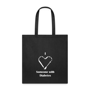 I heart Someone With Diabetes - Needle Design - Tote Bag