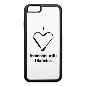 I Love Someone With Diabetes - NeedleDesign - iPhone 6/6s Rubber Case
