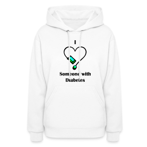 I Love Someone With Diabetes - Pump Design 1 - Blue/Green - Women's Hoodie